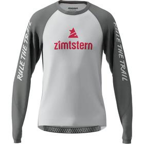 Zimtstern PureFlowz Langarmshirt Herren grau/weiß